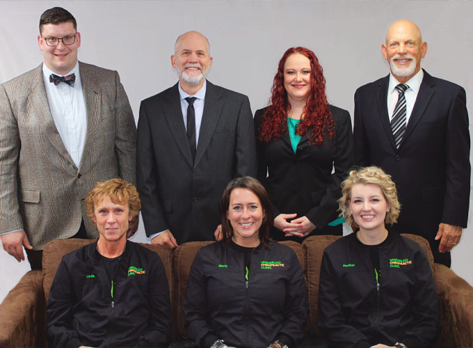 Chiropractor Waterloo IA Lance Vanderloo with Office Staff